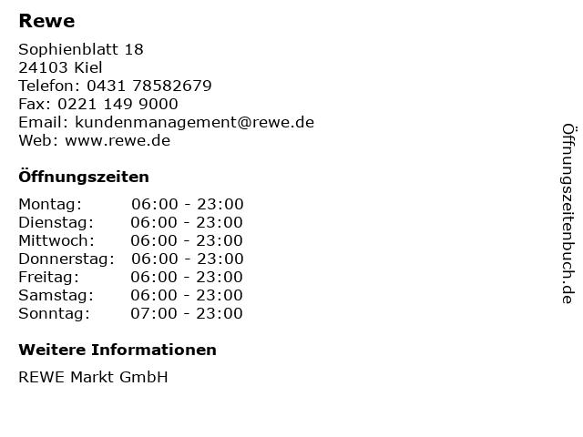 Rewe in Kiel: Adresse und Öffnungszeiten