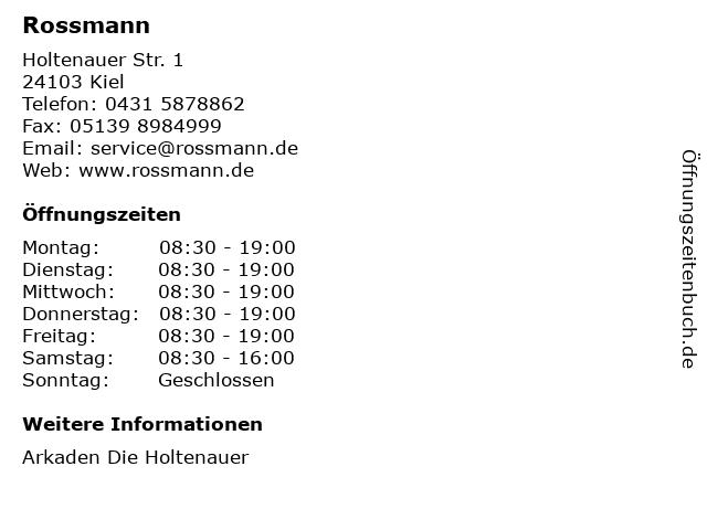 Dirk Rossmann GmbH in Kiel: Adresse und Öffnungszeiten