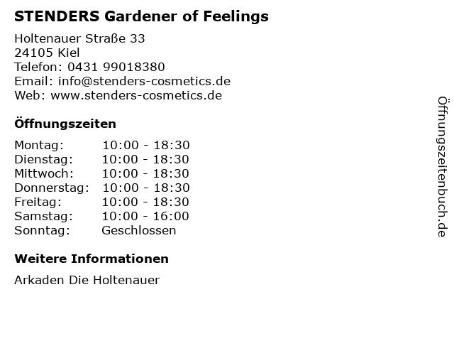 STENDERS Gardener of Feelings in Kiel: Adresse und Öffnungszeiten