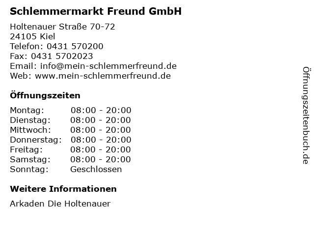 Schlemmermarkt Freund GmbH in Kiel: Adresse und Öffnungszeiten