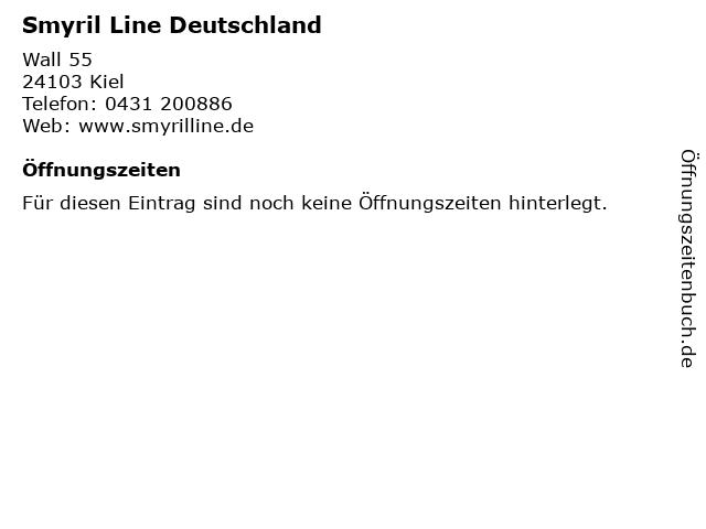 Smyril Line Deutschland in Kiel: Adresse und Öffnungszeiten