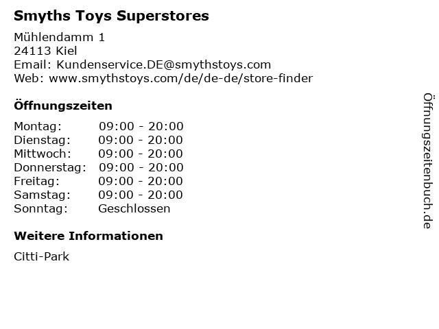 Smyths Toys Superstores in Kiel: Adresse und Öffnungszeiten