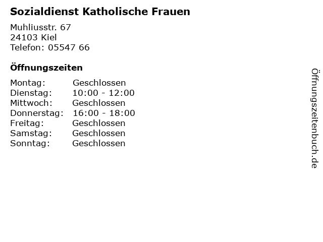 Sozialdienst Katholische Frauen in Kiel: Adresse und Öffnungszeiten