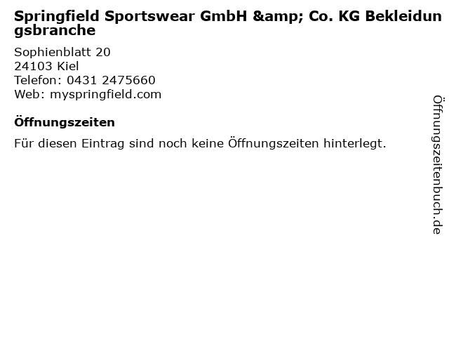 Springfield Sportswear GmbH & Co. KG Bekleidungsbranche in Kiel: Adresse und Öffnungszeiten