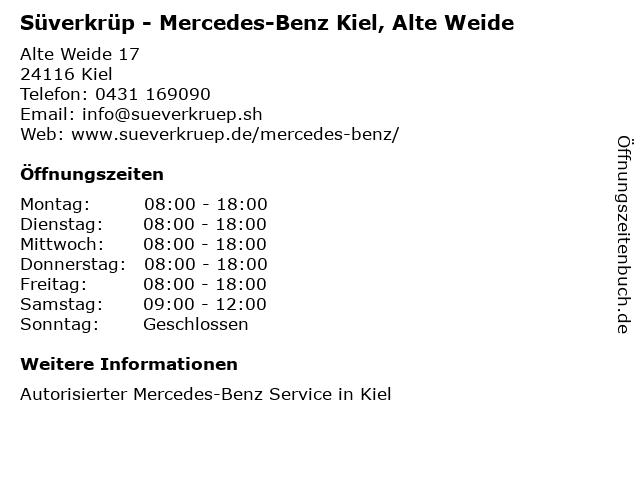 Süverkrüp - Mercedes-Benz Kiel, Alte Weide in Kiel: Adresse und Öffnungszeiten