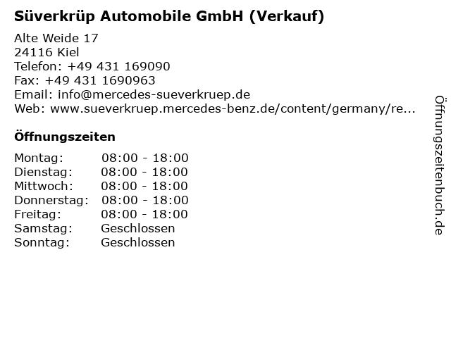 Süverkrüp Automobile GmbH (Verkauf) in Kiel: Adresse und Öffnungszeiten