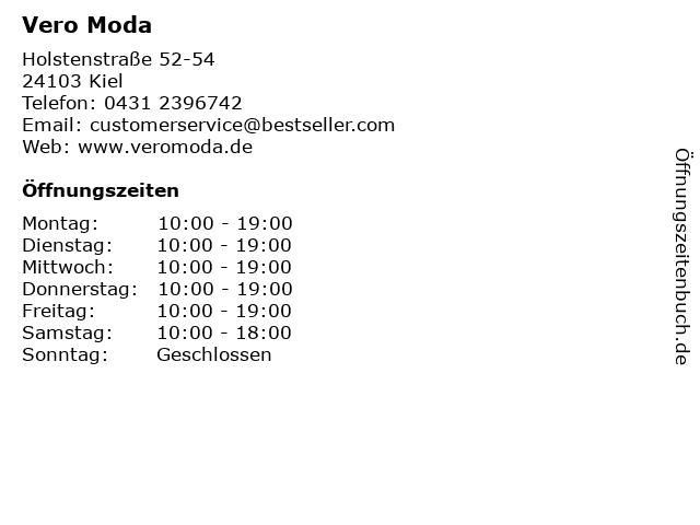 Vero Moda in Kiel: Adresse und Öffnungszeiten