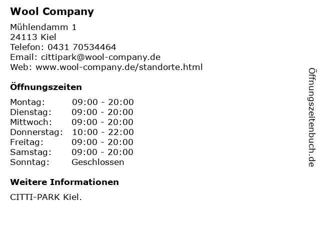 Wool Company in Kiel: Adresse und Öffnungszeiten