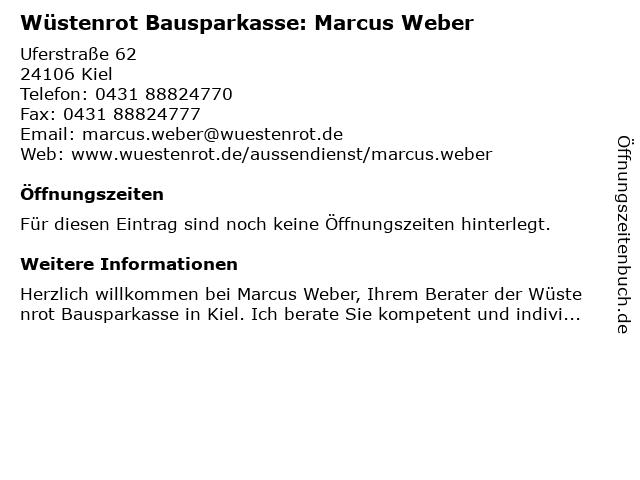 Wüstenrot Bausparkasse: Marcus Weber in Kiel: Adresse und Öffnungszeiten