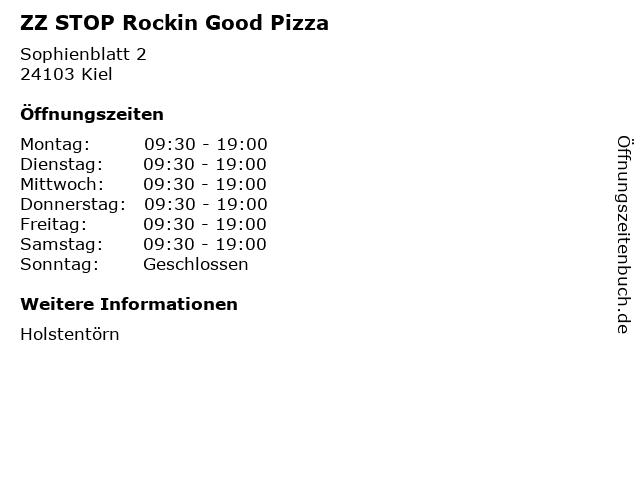 ZZ STOP Rockin Good Pizza in Kiel: Adresse und Öffnungszeiten