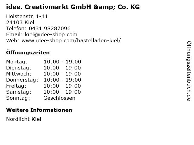 idee. Creativmarkt GmbH & Co. KG in Kiel: Adresse und Öffnungszeiten