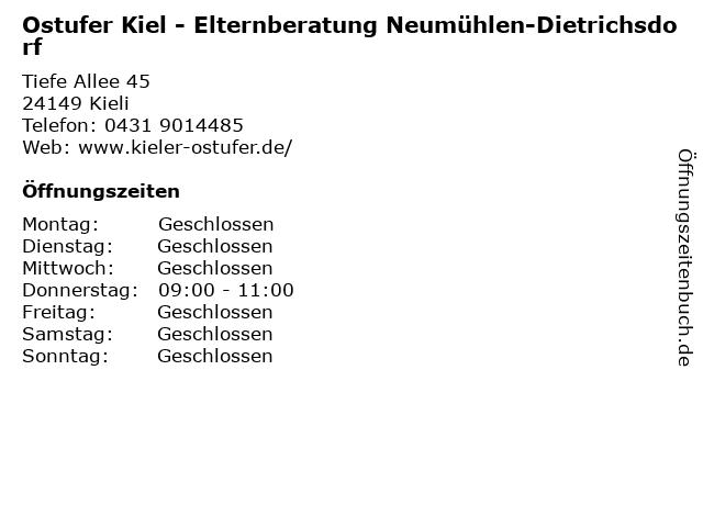 Ostufer Kiel - Elternberatung Neumühlen-Dietrichsdorf in Kieli: Adresse und Öffnungszeiten