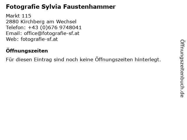 Fotografie Sylvia Faustenhammer in Kirchberg am Wechsel: Adresse und Öffnungszeiten