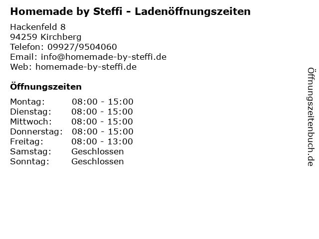 Homemade by Steffi - Ladenöffnungszeiten in Kirchberg: Adresse und Öffnungszeiten