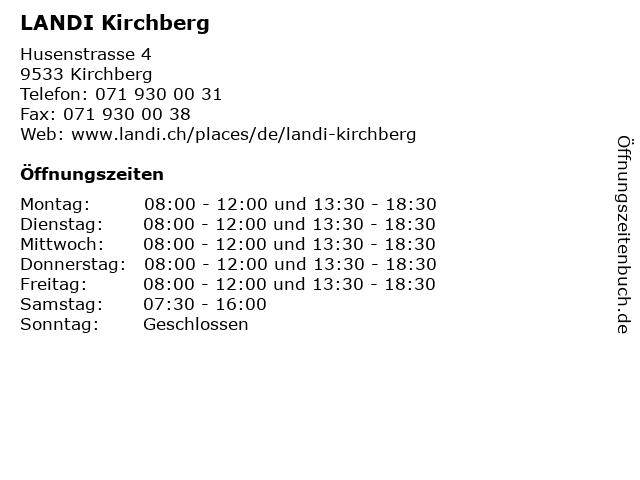 LANDI Kirchberg in Kirchberg: Adresse und Öffnungszeiten