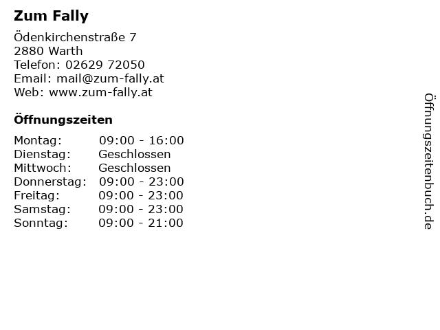 Landgasthof Fally in Kirchberg: Adresse und Öffnungszeiten