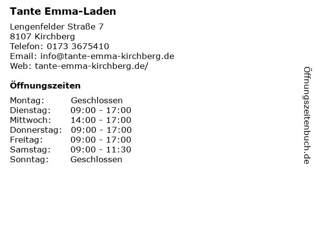 Tante Emma-Laden in Kirchberg: Adresse und Öffnungszeiten