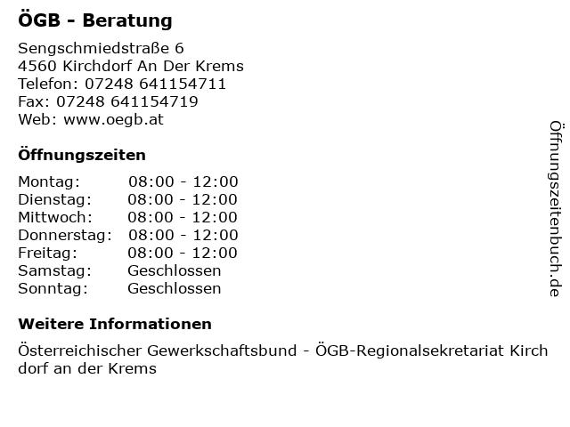 ÖGB - Beratung in Kirchdorf An Der Krems: Adresse und Öffnungszeiten