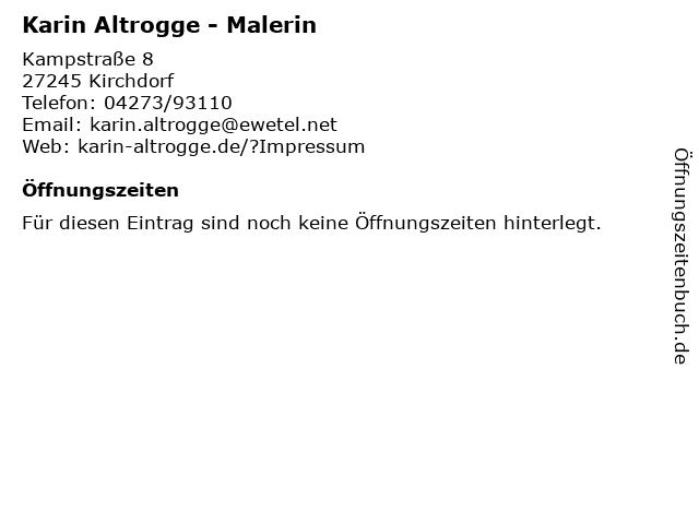 Karin Altrogge - Malerin in Kirchdorf: Adresse und Öffnungszeiten