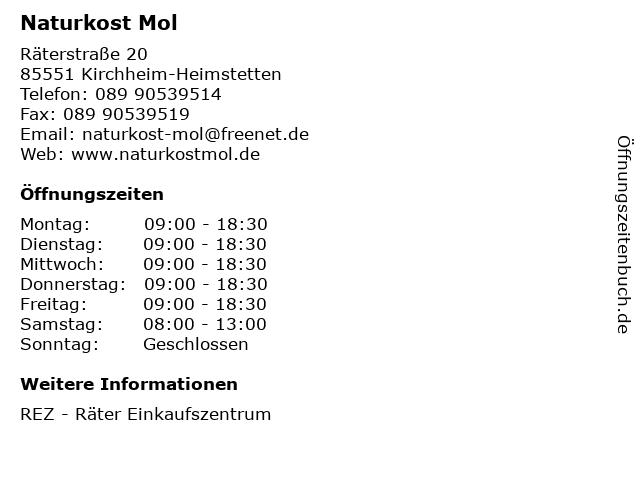 Naturkost Mol in Kirchheim-Heimstetten: Adresse und Öffnungszeiten