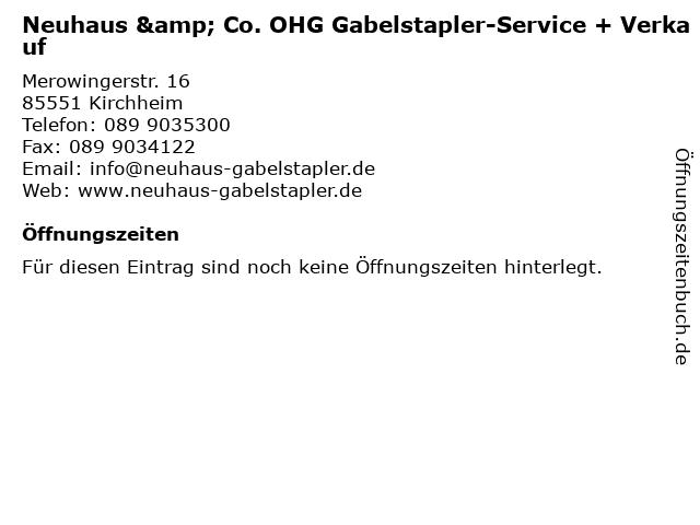 Neuhaus & Co. OHG Gabelstapler-Service + Verkauf in Kirchheim: Adresse und Öffnungszeiten