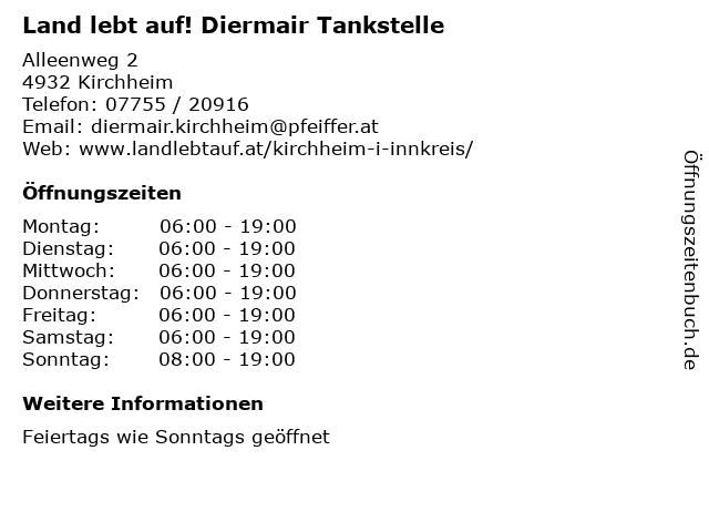 Post Partner im Land lebt auf Diermair in Kirchheim: Adresse und Öffnungszeiten