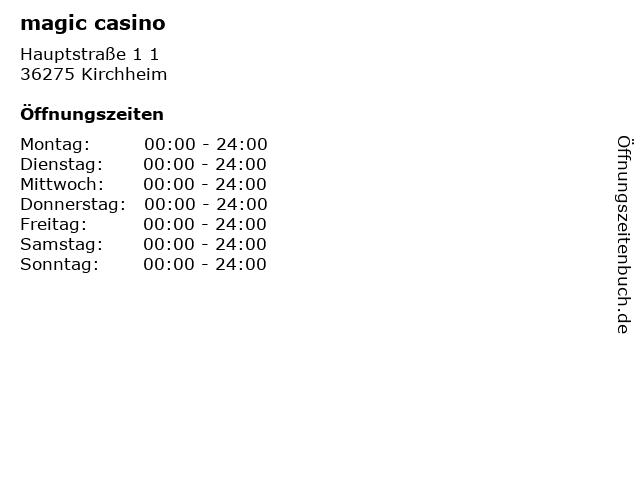 magic casino in Kirchheim: Adresse und Öffnungszeiten