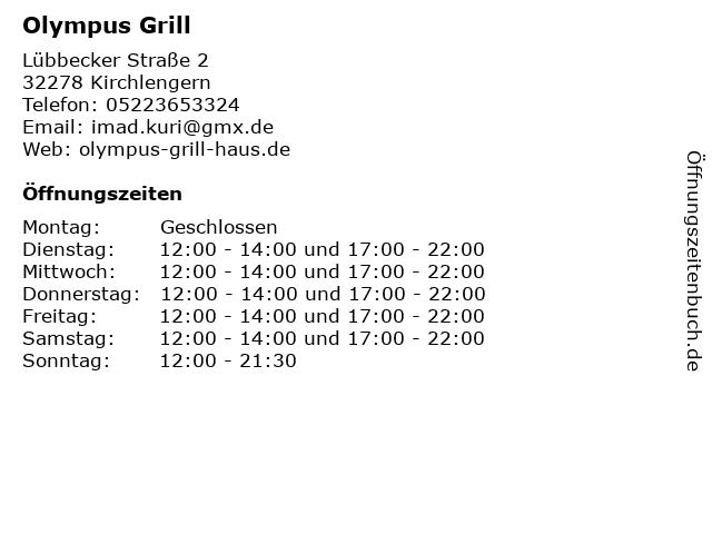 Olympus Grill in Kirchlengern: Adresse und Öffnungszeiten