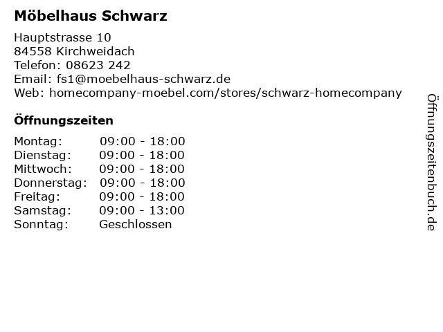 ᐅ Offnungszeiten Mobelhaus Schwarz Hauptstrasse 10 In Kirchweidach