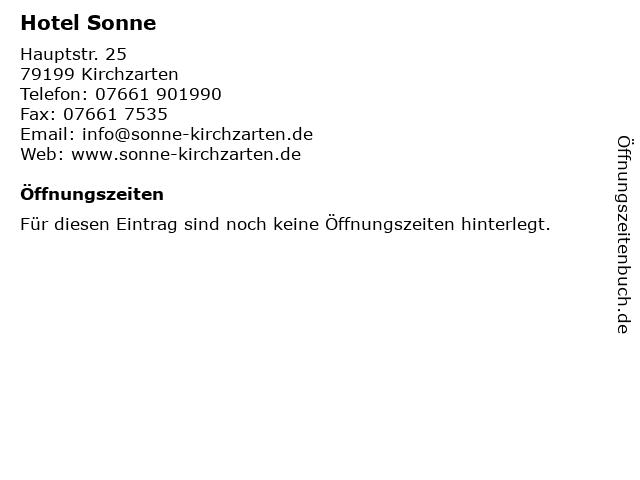 ᐅ Offnungszeiten Hotel Restaurant Sonne Hauptstr 25 In