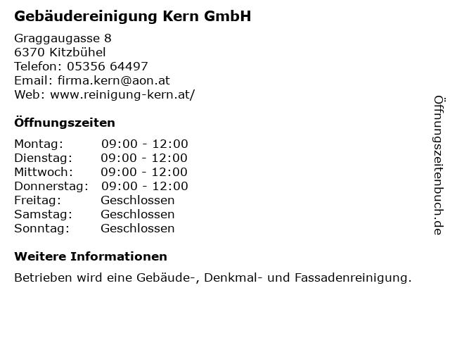 Gebäudereinigung Kern GmbH in Kitzbühel: Adresse und Öffnungszeiten