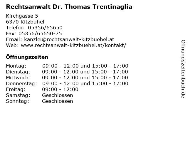 Rechtsanwalt Dr. Thomas Trentinaglia in Kitzbühel: Adresse und Öffnungszeiten