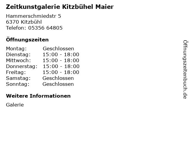 Zeitkunstgalerie Kitzbühel Maier in Kitzbühl: Adresse und Öffnungszeiten