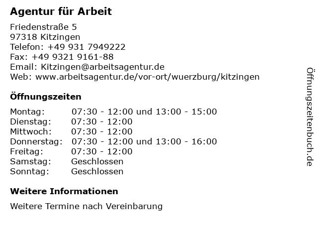 agentur für arbeit kitzingen