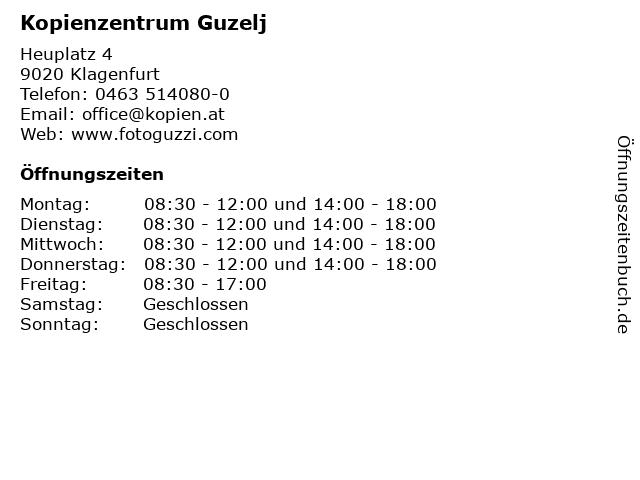 Kopienzentrum Guzelj in Klagenfurt: Adresse und Öffnungszeiten