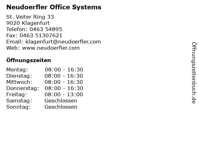 Neudoerfler Office Systems in Klagenfurt: Adresse und Öffnungszeiten
