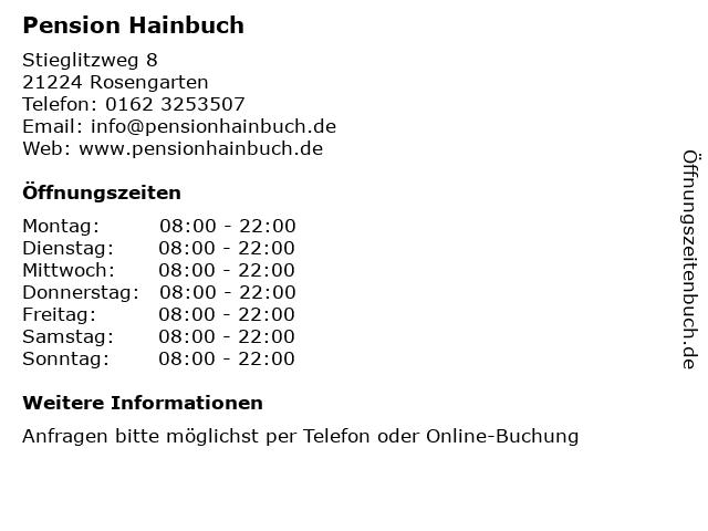 Pension Hainbuch in Klecken: Adresse und Öffnungszeiten