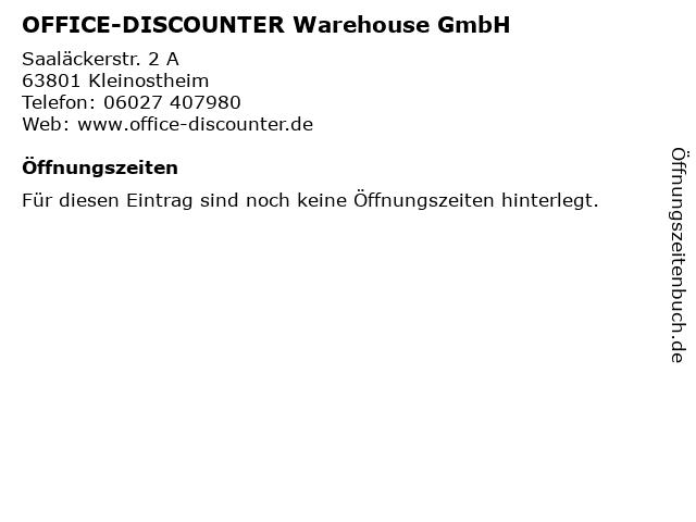 ᐅ Offnungszeiten Office Discounter Warehouse Gmbh Saalackerstr