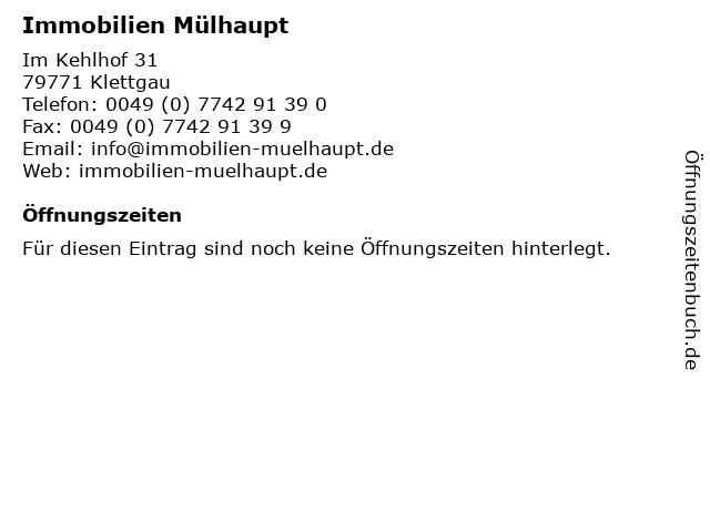 Immobilien Mülhaupt in Klettgau: Adresse und Öffnungszeiten