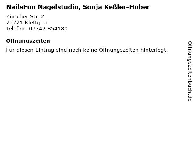 NailsFun Nagelstudio, Sonja Keßler-Huber in Klettgau: Adresse und Öffnungszeiten