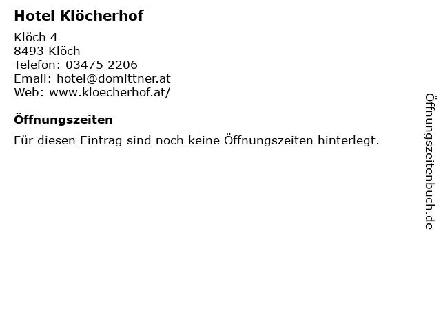 Hotel Klöcherhof in Klöch: Adresse und Öffnungszeiten