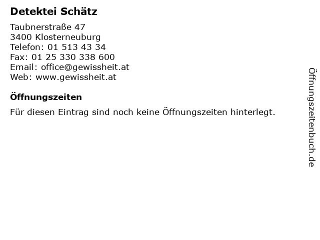 Detektei Schätz in Klosterneuburg: Adresse und Öffnungszeiten