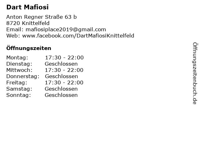 Dart Mafiosi in Knittelfeld: Adresse und Öffnungszeiten
