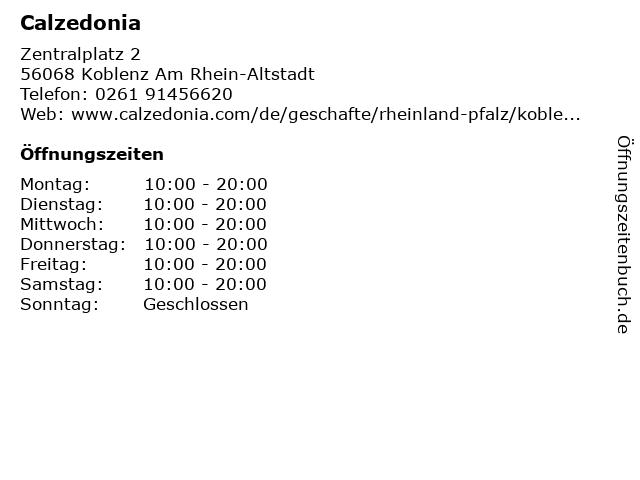 Calzedonia Germany GmbH in Koblenz: Adresse und Öffnungszeiten