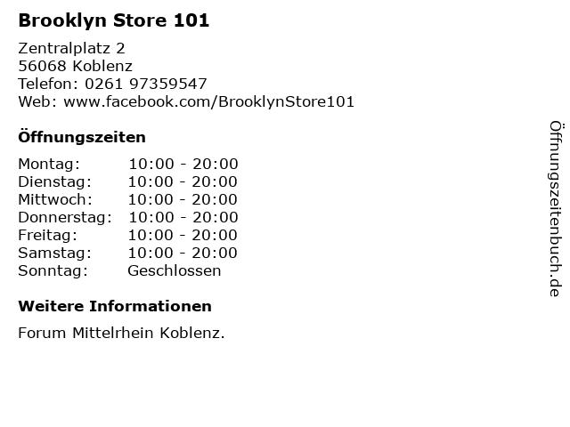 Brooklyn Store 101 in Koblenz: Adresse und Öffnungszeiten