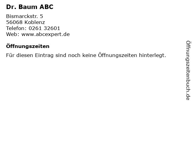 Dr. Baum ABC in Koblenz: Adresse und Öffnungszeiten