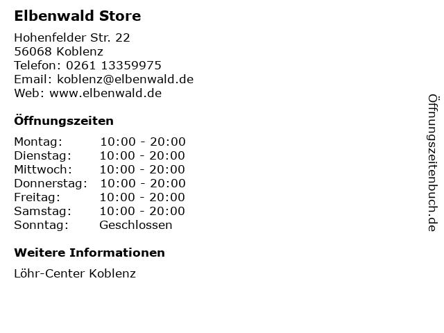 Elbenwald Store in Koblenz: Adresse und Öffnungszeiten