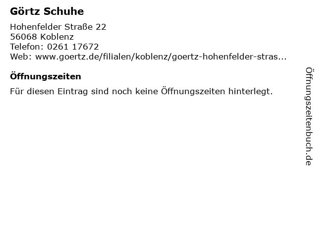 a5de05ebc106cd Görtz 17 in Koblenz  Adresse und Öffnungszeiten