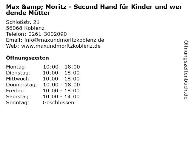 Max & Moritz - Second Hand für Kinder und werdende Mütter in Koblenz: Adresse und Öffnungszeiten