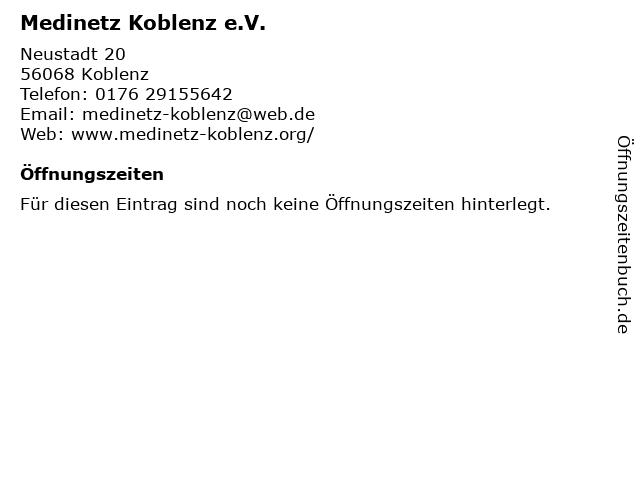 Medinetz Koblenz e.V. in Koblenz: Adresse und Öffnungszeiten